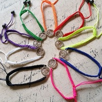 18Pcs ( Mix 9 Colors ) Crystal Rose Charm Handmade Weaving Bracelets DIY Fashion Jewelry