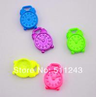 1.4cm*1cm Lovely Neon Color alarm clock charm pendant