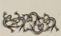 Creative Metal Crafts Iron gecko mural wall hangings16.5*16CM free shipping