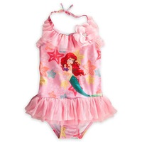 2014 New Little Mermaid Swimsuit Princess Mermaid bathing suits girls one piece swimsuit kids swimwear UV protective swim wear
