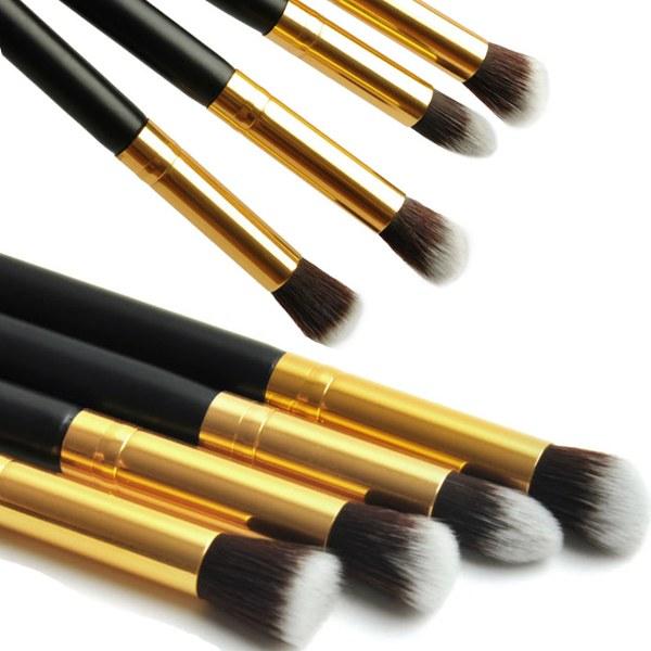 1Set/4pcs Professional Eye brushes set eyeshadow Foundation Mascara Blending Pencil brush Makeup tool Cosmetic Black(China (Mainland))