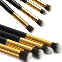 1Set/4pcs Professional Eye brushes set eyeshadow Foundation Mascara Blending Pencil brush Makeup tool Cosmetic Black