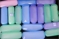 6 pcs/pack PVC Colorful Transparent Glasses Boxes Plastic Thicken Sunglasses Case