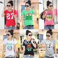 Hot sale!!! Free shipping 2014 new Fashion Good Quality Cotton T Shirt Women  Tops T-shirts tee shirts for women