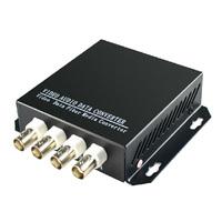 Premium quality 1pair 4 channel digital video/Audio/data fiber optic media converter, 4v1d, RS485, up 25KM, Anti-lightning!