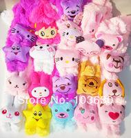 2014 children new winter cartoon animals head scarf wholesale plush animal baby scarf collar men and women