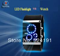 New Design Led  fashion wrist watch , hot sale waterproof  flash light and watch