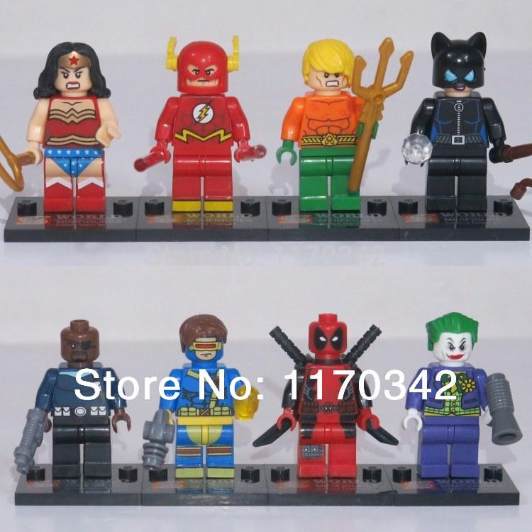 DC Super Hero The Flash Figures 8pcs/lot Building Blocks Sets Model Classic Toys Bricks Compatible With Lego(China (Mainland))