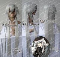 Black Butler Kuroshitsuji Undertaker Cosplay Sexy silvery white Wig 100cm