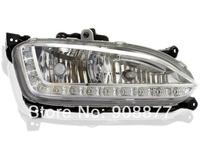 For 2013 2014 Hyundai Santa Fe IX45 DRL LED daytime running light with fog frame santa fe accessories