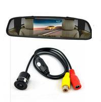 IR LED Night Vision Waterproof  Car Rear View Camera Monitor + 4.3 inch LCD Car Monitor