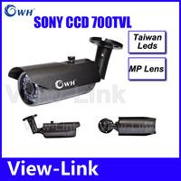 Best price 700TVL CCD 24pcs IR leds Day/night waterproof indoor / outdoor CCTV camera with bracket