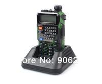 Free Shipping!! 2014 BaoFeng New Green Baofeng UV-5RE Plus UHF+VHF 136-174MHz/400-520MHz FM VOX Walkie Talkie