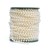 10 Meters 6mm Ivory Round Bead Garland Cake Banding Trim Ribbon Wedding Centerpiece Decoration Hair Style
