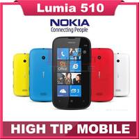 Nokia brand Original Unlocked Lumia 510 5MP WIFI 4.0 Inch GPS Windows OS 4GB Internal Memory Mobile phone Refurbished Freeship