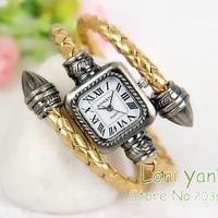10pcs/lot Mixed Color Fashion Jewelry Bangle Bracelet Watch Snake Quartz Wristwatch Dress Watch Free Ship