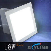 square mini led 18w panel light ,1400 LM high brightness ,AC 90-265v high voltage ,20 pcs/lot ,express free shipping
