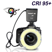 HC100 Aputure Amaran Halo HC100 CRI 95+ LED Ring Flash Light for Canon EOS 7D 6D 50D 5D Mark III 5D Mark II 700D 70D 650 20D