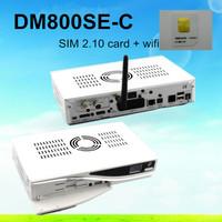 DM800se-c 2.10 wifi+ v2 Remoter Control ,DVB Dm800 hd se Cable receiver(dvb-C tuner)+Sim2.10+Enigma2 hd pvr Free Shipping DHL