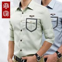 2014 Spring Mens Cotton Shirts Fashion Designer Cross Line Slim Fit Dress man Shirts Tops Western Casual High quality