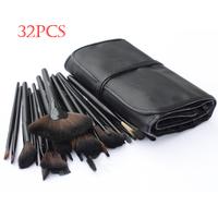 32 Pcs make up Bobi Professional makeup brushes & tools set Black Leather Makeup Tools Case Makeup Drop Free Shipping(1413)