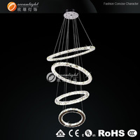 Modern Crystal LED Pendent Hallway Light  modern living room crystal LED chandelier lights Dia:60+50+40+30cm H150cm OM88087W