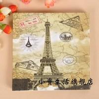 NP036 3 packs 60pcs Vintage Style Effel Towel Napkin Paper 100% Virgin Wood Tissue for Party Wedding Decoration