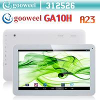 Gooweel GA10H 10.1inch  A23 Dual core 1.5GHz tablet pc 1GB RAM 8GB ROM Android4.2 WIFI Dual Camera OTG 1024X600pixs