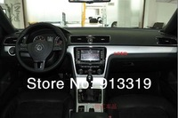 Car stickers panel 3D carbon fiber vinyl vw passat cc interior decorations FREE SHIPPING drop shipping