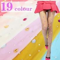 2014 New Summer Women Fashion 1.5cm bling Crystal Rhinestones Pantyhose Tights Sexy Stockings