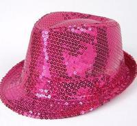 On sale Paillette hat jazz hat fedoras magic hat adult child general paillette small fedoras