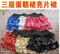 On sale Costume performance wear jersey paillette layered dress adult short skirt