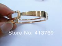 Luxury Brand Replica Acessories Women Cutout Bracelet Bangle Titanium Stainless Steel 18k Rose Gold Plated Bangle Jewelry Bijoux