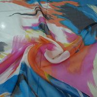 2014 New Arrival  Pure Silk Chiffon Fabric Printed Beautiful Textile Dress Material C4111
