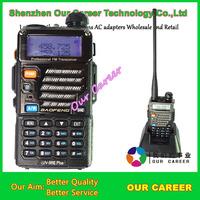 BAOFENG Dual Band UV-5RE Plus 5W 128CH UHF + VHF 136-174MHz/400-520MHz FM VOX Dual Display UV5RE Plus Walkie Talkie A0850P
