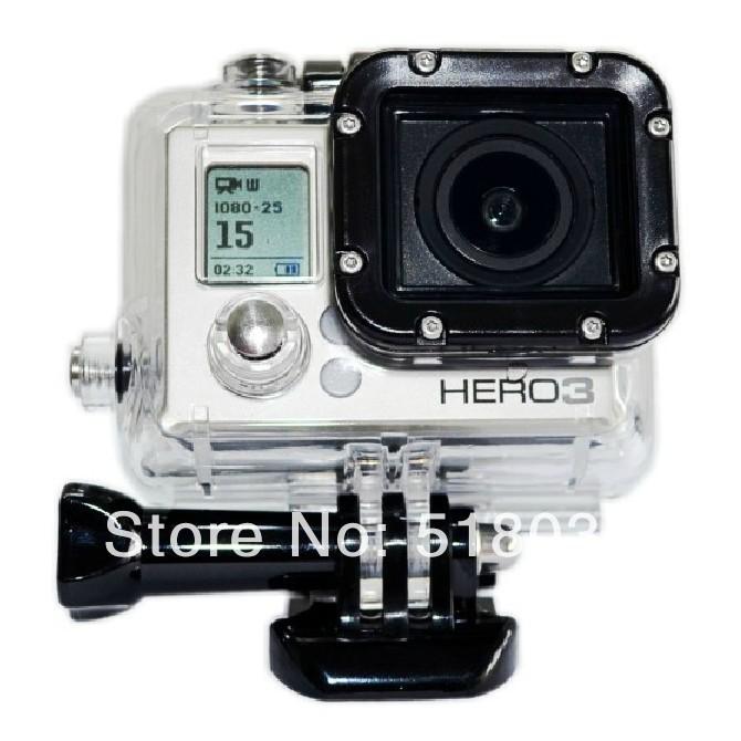 30M water proof case go pro hero3 better accessories source than ebay gopro hero 3(China (Mainland))