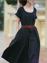 wholesale summer linen dress