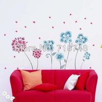 Hot Butterfly Feifei Vine Flower Sticker Wall Decal Removable Art PVC Decor Home  50*70 Cm