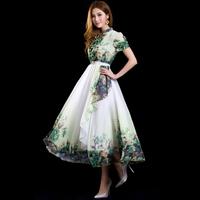 2014 spring and summer women's ruffle slim medium-long sweet bohemia one-piece dress