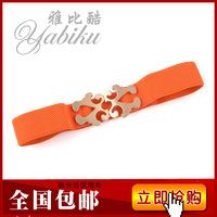 Bow wide belt fashion decoration cummerbund elastic waist belt strap women's
