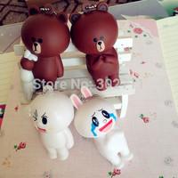 4 styles New Rare Original Line Bear Brown And Rabbit Squishy Phone Charm / Bag Charm