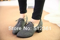 2014 new Free shipping new fashion Spring shoes with low shoes female thick edition frosted sweet single shoes oxfords shoes