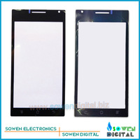 Outer LCD Screen Lens Top Glass for Huawei Ascend P1 T9200 U9200,Black,Free Shipping,