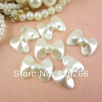 Free Shipping 300pcs/bag 20*15mm bow shape ABS Flatback pearl Ivory imitation pearls for DIY decoration
