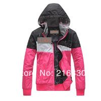2014 new arrival women's spring and autumn wear sportswear fashion female hooded down coat outerdoor wear leisure jackets