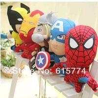 "Wholesale/Retail Free Shipping FS Marvel Avengers Alliance Hero Iron Man 18cm/7"" Soft Plush Doll Toy Figure"