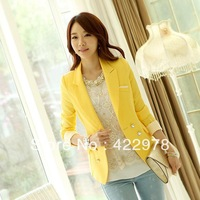 Free shipping !hot sale Slim small suit long-sleeved jacket  women's blazer  2013 Ms. Hitz small suit jacket  Size S-XXL