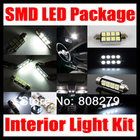7 pcs Error Free LED SMD Interior Light Kit Set White Blue