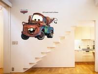 Modern Wall Sticker-Large Cartoon Traffic Car  Romantic Quote TV Window Vinyl Art Mural Wall Bedroom decals Gift for kids