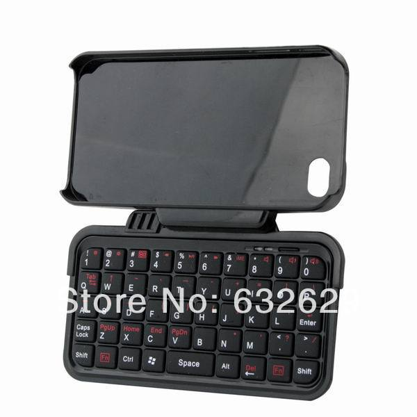 Rotatable Mini Bluetooth 2.0 Keyboard + Case for iPhone 4G(China (Mainland))